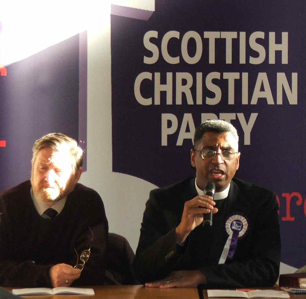 William Thompson and George Hargreaves at the SCP inaugural meeting in Parliament Hall, St Andrews Nov 2006